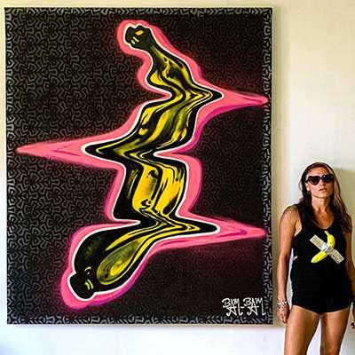Warped Warhol Yellow Banana