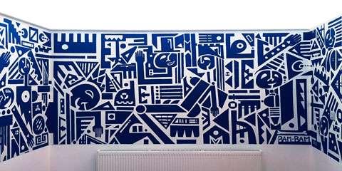 Blue Cubist Dancers