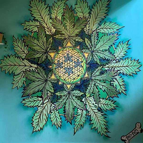 Hemp Smile Mandala Mural