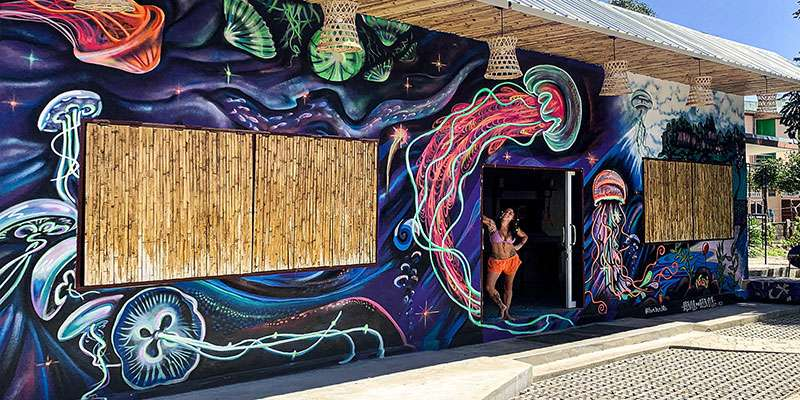 Giant Jellyfish Mural